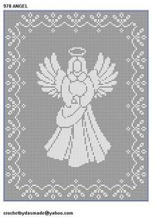 Set of filet crochet patterns to make for Christmas br br Various sizes br br Comes with pattern graph instructions for Size thru Size thread and Worsted Weight Yarn Advanced Filet Crochet, Crochet Borders, Crochet Chart, Thread Crochet, Crochet Doilies, Crochet Edgings, Cross Stitch Angels, Cross Stitch Charts, Cross Stitch Patterns