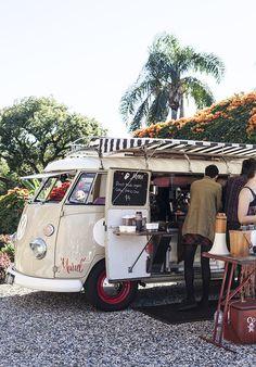 Love this VW van coffee shop