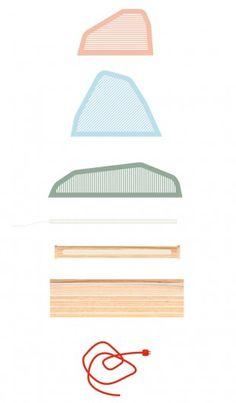 Cette lampe est conçue pour obtenir des variations d'ambiances lumineuses dans un jeu qui allie la forme, la contre-forme et la direction de la lumière. #design  #luminaire Plywood Furniture, Furniture Design, Diy Luminaire, Partition Design, Creative Workshop, Practical Gifts, Glass Design, Design Design, Design Reference