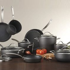 I'd like to throw out most of what I have and just have this set. Costco UK - Kirkland Signature 15 Piece Hard Anodized Cookware Set