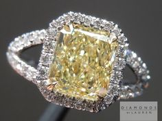 Awesome Style! Great size for the weight and the color is pure and strong for a fancy light yellow diamond. Incredibly sparkle Ring!
