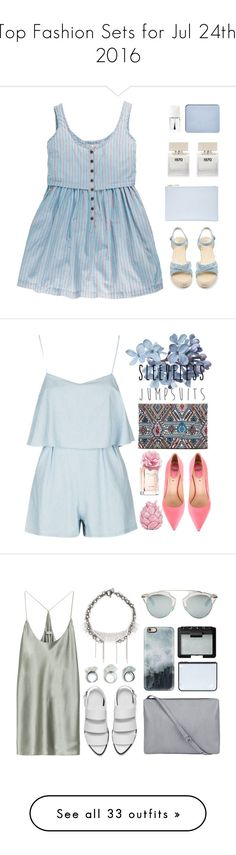 """Top Fashion Sets for Jul 24th, 2016"" by polyvore ❤ liked on Polyvore featuring Whistles, Bella Freud, shu uemura, Christian Dior, Fendi, Tommy Hilfiger, Zara Home, sleevelessjumpsuits, T By Alexander Wang and Venna"