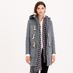 Toggle coat in mixed tweed