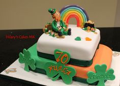 An Irish themed birthday cake