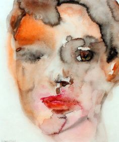Thirteen by Lisa Krannichfeld Watercolor Portraits, Watercolor And Ink, Cool Paintings, Original Paintings, The Glass Menagerie, Ap Studio Art, Portrait Inspiration, Face Art, Art Studios