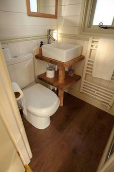 tiny bathroom Tiny house, living in a small space, plans, interior cottage DIY, modern small house on wheels- Tiny house ideas Tiny Bathrooms, Tiny House Bathroom, Modern Bathroom, Small Bathroom, Corner Sink Bathroom, Bathroom Basin, Master Bathroom, Small House Layout, Tiny House Design