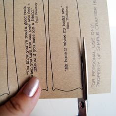 Printable quotes bookmarks. What about adapting this idea for a library center, and have kids choose a quote or favorite sentence from their book? Review quotation marks first.