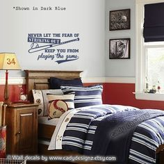 Baseball Wall Decal Sports Vinyl Wall Decals by Studio378Decals