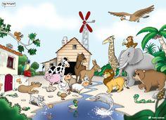 Que animais vês?