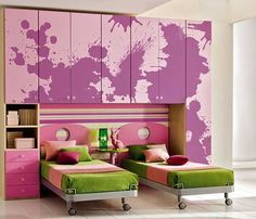 25 Spectacular Girls Bedroom Decorating Ideas - World inside pictures Indian Themed Bedrooms, Bedroom Themes, Bedroom Decor, Bedroom Ideas, Bedroom Stuff, Design Bedroom, Purple Kids Bedrooms, Cute Girls Bedrooms, Colourful Bedroom