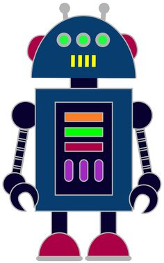 Free robot clip art for classrooms, teachers and parents.
