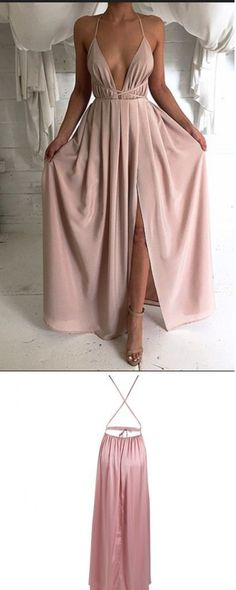 Backless Prom Gowns,Charming Evening Dress,Sexy Prom Dress,Long Prom Dress, Simple Cheap Prom Dress,Pink Prom Dress,Elastic Satin Prom Dresses