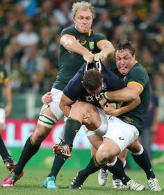 Schalk Burger and Coenie Oosthuizen of South Africa drag down Scotland's Chris Fusaro Rugby Sport, Rugby Men, Rugby League, Rugby Players, South African Rugby, International Rugby, Super Rugby, Contact Sport, All Blacks