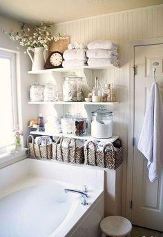 Stunning shabby chic bathroom decoration ideas (21)