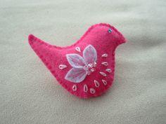 Felt Little Bird  Brooches a choice of colours 4.00 each
