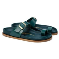 BIRKENSTOCK Ciney Natural Leather Premium Alsa in all sizes ✓ Buy directly from the manufacturer online ✓ All fashion trends from Birkenstock Unisex Fashion, All Fashion, Fashion Trends, Birkenstock Style, Toe Loop Sandals, Calf Muscles, Toe Rings, Natural Leather, Real Leather