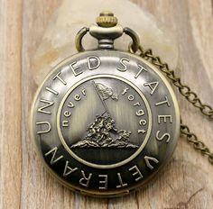 US Veterans Never Forget Pocket Watch [FREE SHIPPING]