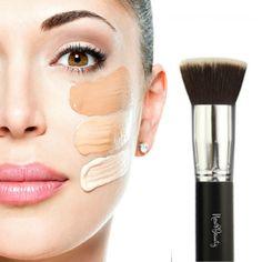 Best Foundation Brush Flat Top Kabuki Synthetic Face Brush Applicator Blender