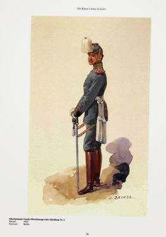 German; 2nd Guard Machinegun Abteilung, Oberleutnant, c.1910. Raised 1902. Home Depot; Berlin