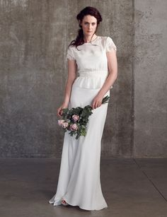 Mix and match your way to your perfect wedding dress with the beautiful new collection of Sally Lacock bridal separates. 2 Piece Wedding Dress, Sweet Wedding Dresses, Vintage Inspired Wedding Dresses, Wedding Dress Cake, Perfect Wedding Dress, Cheap Wedding Dress, Wedding Gowns, Wedding Blog, Wedding Skirt