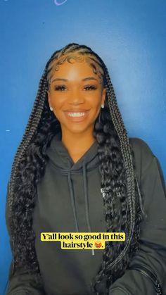 Box Braids Hairstyles For Black Women, Braids Hairstyles Pictures, Braids For Black Hair, Black Girl Braids, Braided Hairstyles For Black Women, Twist Braid Hairstyles, African Braids Hairstyles, Baddie Hairstyles, Protective Hairstyles