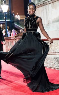 Lupita Nyong'o from The Big Picture: Today's Hot Photos  The Black Panther actress radiates as she twirls her dress on the red carpet of the BAFTAs.