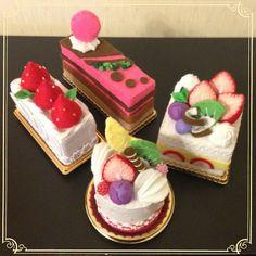 ハンドメイド:フェルトショートケーキ