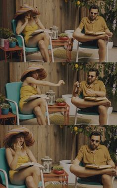 """I feed you"" The Pretty One (2013) by Jenée LaMarque, starring Zoe Kazan and Jake Johnson."