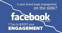 With engagement to Facebook Brand Pages continuing to slide. Here are 7 tips to boost your engagement organically #socialmedia #smm @dexter.roona