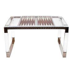 Charles Hollis Jones Backgammon Table - $10,000 Est. Retail - $6,200 on Chairish.com