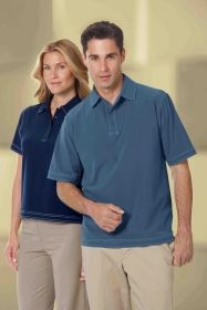 Promotional Products Ideas That Work: Ladies' performance polyester stretch woven polo. Get yours at www.luscangroup.com