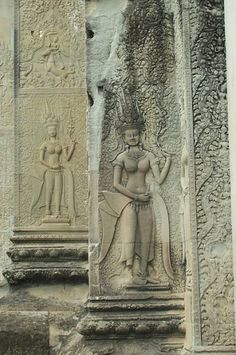 Photo of Angkor Wat: Apsaras Sculpture Art, Sculptures, Angkor Wat, Yesterday And Today, Public Domain, Cambodia, Carving, Statue, History