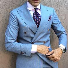 Light Blue Double Breast Suit by @danielre