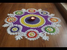 Here is a simple freehand diwali special flower rangoli design for Diwali. It is based on one of my original rangoli designs and I have tried to do some inno. Easy Rangoli Designs Videos, Rangoli Designs Latest, Simple Rangoli Designs Images, Rangoli Designs Flower, Rangoli Designs With Dots, Rangoli Designs Diwali, Flower Rangoli, Beautiful Rangoli Designs, Kolam Designs