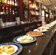 """See 111 photos from 860 visitors about tapas, lively, and authentic. """"Best Vasque Tapas I've ever had. You walk in there and just start eating. Beef Chops, Veal Chop, Paella, Fish And Meat, Tasty Dishes, Places To Eat, Tapas, Barcelona, Good Food"""