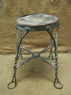 Vintage Ice Cream Chair Stool   Antique Old Stools 6359