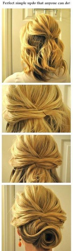 Cute style for short hair.