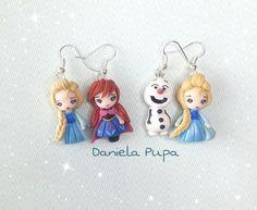 Polymer clay Anna & Elsa (Frozen)