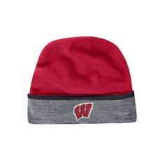 Adult Under Armour Wisconsin Badgers Cuffed Knit Beanie, Men's, Multicolor