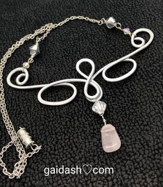Great piece to add to your #fashion #accessory #collection. It has #Lovely #Rose #Quartz with its #gentle #pink #essence ,called the #stone of the #heart,a #Crystal of #Unconditional #Love . Hand wire wrapped #necklace, #Casual / #special occasion wear #Dressy #jewelry. gaidash.com