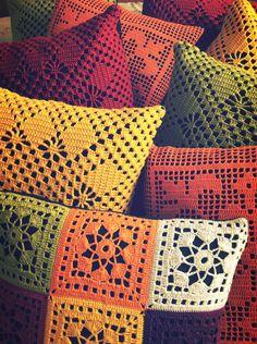 Almofada Crochê Diversos - encomenda | Casa-me! - Studio Decor | Elo7