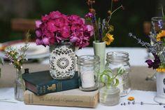 books with mason jars