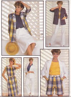 1980s Misses' Jacket Top Pants Short and Wrap by Sutlerssundries, $8.00