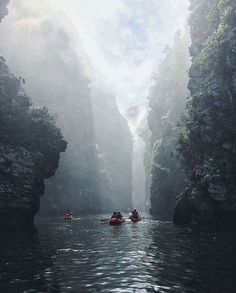 Kayaking through Storms River, Tsitsikamma National Park, South Africa. Photo by Digby and the Lullaby Africa Travel Destinations Places To Travel, Places To See, Travel Destinations, Vacation Travel, Hawaii Travel, Holiday Destinations, Budget Travel, Travel Guide, Garden Route South Africa