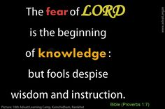 The fear of LORD is the beginning of knowledge: but fools despise wisdom and instruction. ~ Bible(Proverbs 1:7) #ShriPrashant #Advait #Bible #fear #God Read at:- prashantadvait.com Watch at:- www.youtube.com/c/ShriPrashant Website:- www.advait.org.in Facebook:- www.facebook.com/prashant.advait LinkedIn:- www.linkedin.com/in/prashantadvait Twitter:- https://twitter.com/Prashant_Advait