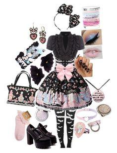 """lolita fashion // angelic pretty"" by xkitten-pokerx ❤ liked on Polyvore featuring TALLY WEiJL, Dolce&Gabbana, Hervé Léger, Pumpkin Patch, Guerlain, Betsey Johnson and Miss Selfridge"