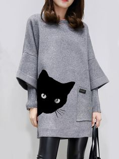EG/_ KIDS GIRL CARTOON CAT BOWKNOT SLEEVELESS ROUND NECK SUMMER MESH DRESS STUNNI