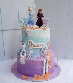 Frozen Themed Birthday Party, Disney Frozen Birthday, 2 Birthday Cake, Birthday Ideas, Birthday Parties, Elsa Torte, Snowflake Wedding Cake, Frozen 1, Anna Cake
