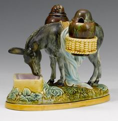 George Jones majolica cruet set | Bonhams