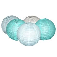 15 Colors Paper Ball Chinese Paper Lanterns For Party And Wedding Decoration Hang Paper Lanterns  Mint green light blue beige